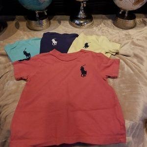 POLO Ralph Lauren Crew Neck T-Shirts - 3T Boys